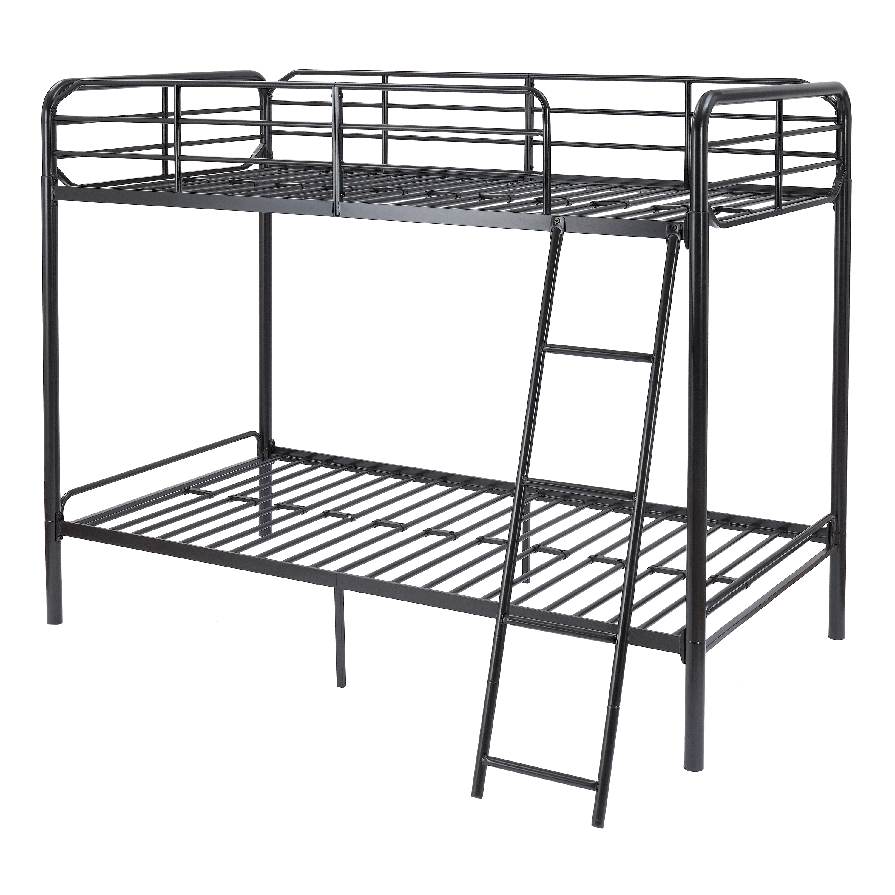 MS Metal Bunk Bed Twin Over Twin Black
